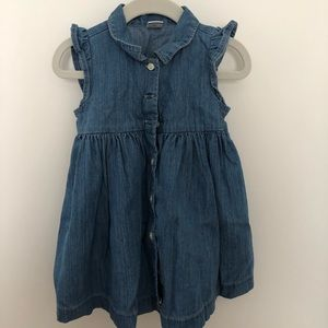 Baby Gap flutter sleeve denim dress, sz 18-24 mo
